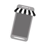 Colore online di compera di gray del deposito di Smartphone Fotografia Stock Libera da Diritti