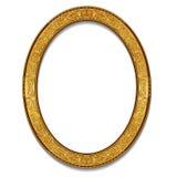 Colore ovale dell'oro della struttura con ombra illustrazione di stock