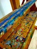 Colore paleta obrazy stock