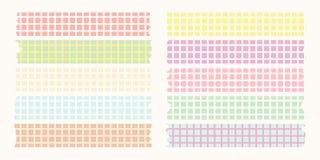 Colore pastello di mascheramento della serie di cassette illustrazione di stock