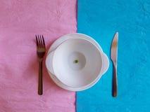 Colore pastello minimo di concetto di progetto di ora di colazione Immagini Stock Libere da Diritti