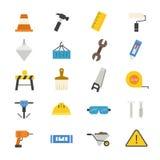Colore piano delle icone della costruzione Fotografia Stock