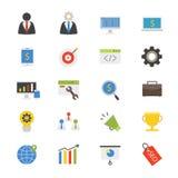 Colore piano delle icone di sviluppo di affari Fotografia Stock Libera da Diritti