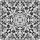 Colore quadrato del nero di disegno semplice illustrazione di stock