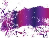 Colore rosa astratto della sorgente del fiore dell'illustrazione del fiore Immagini Stock
