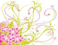 Colore rosa astratto g della sorgente del fiore dell'illustrazione del fiore Immagini Stock