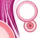 Colore rosa bianco del cerchio Fotografia Stock Libera da Diritti