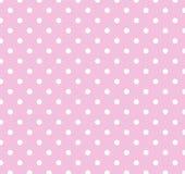 Colore rosa con i puntini di Polka bianchi Fotografia Stock Libera da Diritti