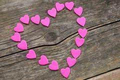 colore rosa del cuore Immagini Stock Libere da Diritti
