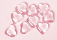 Colore rosa del ghiaccio del cuore Fotografia Stock Libera da Diritti
