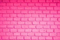 Colore rosa del muro di mattoni Immagini Stock Libere da Diritti