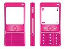 Colore rosa del telefono delle cellule Fotografie Stock Libere da Diritti
