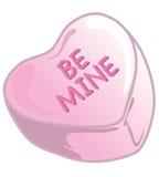 Colore rosa delle caramelle del biglietto di S. Valentino Immagine Stock Libera da Diritti