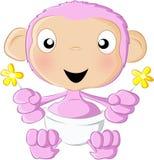 Colore rosa dello scimpanzé del bambino Fotografia Stock Libera da Diritti