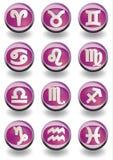 Colore rosa dello zodiaco Fotografie Stock