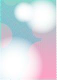 Colore rosa di BACCANO A4 dei puntini ciano Immagini Stock