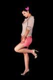Colore rosa di Polka Fotografia Stock