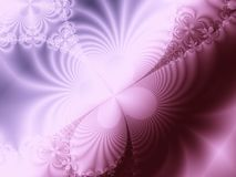 Colore rosa e frattalo viola di turbinio Immagini Stock