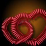 Colore rosa e giorno del biglietto di S. Valentino amoroso rosso Fotografia Stock Libera da Diritti