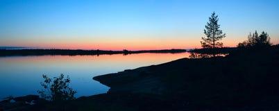 Colore rosa ed azzurro - colori della notte bianca Immagine Stock Libera da Diritti