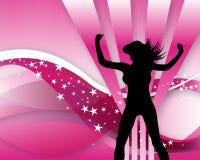 Colore rosa posteriore del girlie Fotografie Stock Libere da Diritti