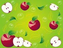 Colore rosso astratto della mela dell'illustrazione della frutta Immagine Stock