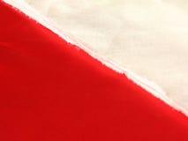 Colore rosso bianco del tessuto Immagine Stock