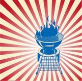 Colore rosso, bianco e BBQ Immagine Stock Libera da Diritti