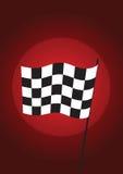 Colore rosso Checkered della bandierina - vettore Fotografia Stock Libera da Diritti