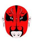 colore rosso cinese della mascherina del diavolo illustrazione di stock