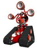 Colore rosso del bot dell'asta Fotografia Stock
