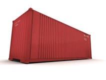 Colore rosso del contenitore di carico Fotografia Stock Libera da Diritti