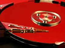 Colore rosso del disco rigido Fotografie Stock
