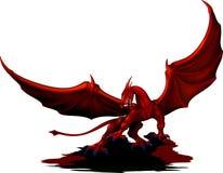 Colore rosso del drago Immagine Stock