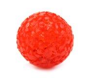 Colore rosso del giocattolo della sfera per gli animali domestici Fotografia Stock Libera da Diritti