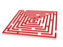 Colore rosso del labirinto Immagini Stock Libere da Diritti