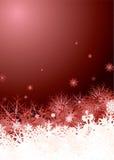 Colore rosso del mucchio del fiocco di neve Immagine Stock Libera da Diritti