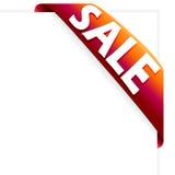 Colore rosso del nastro di vendita Fotografie Stock Libere da Diritti