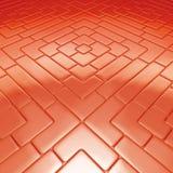 Colore rosso del pavimento di mosaico Fotografia Stock Libera da Diritti