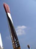 Colore rosso del pennello immagini stock