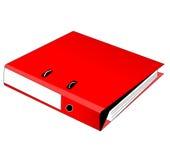 Colore rosso del raccoglitore illustrazione vettoriale