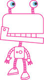 Colore rosso del robot Fotografie Stock