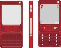 Colore rosso del telefono delle cellule Immagini Stock Libere da Diritti