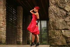 colore rosso del vestito Fotografie Stock Libere da Diritti