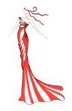 Colore rosso del vestito della donna Immagine Stock Libera da Diritti