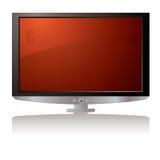 Colore rosso dell'affissione a cristalli liquidi TV Fotografie Stock Libere da Diritti