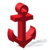 Colore rosso dell'ancoraggio illustrazione vettoriale