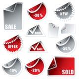 Colore rosso dell'argento della curvatura della modifica illustrazione di stock
