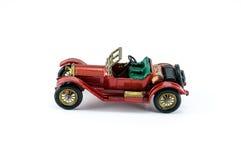 Colore rosso dell'automobile di modello del giocattolo Fotografie Stock