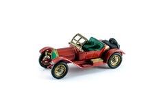 Colore rosso dell'automobile di modello del giocattolo Fotografie Stock Libere da Diritti